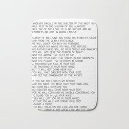 Psalm 91 #minimalism Bath Mat