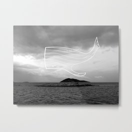 """Flying whale"" Metal Print"