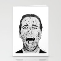 american psycho Stationery Cards featuring American Psycho by Aoife Rooney Art
