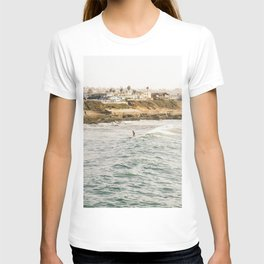 Braving the Surf Mission Beach San Diego California T-shirt