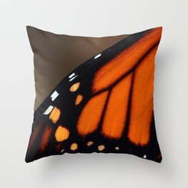 Wing of a Monarch Throw Pillow