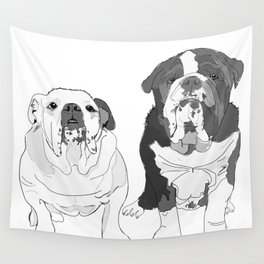 English Bulldog Brothers Wall Tapestry