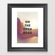 on the open road. Framed Art Print