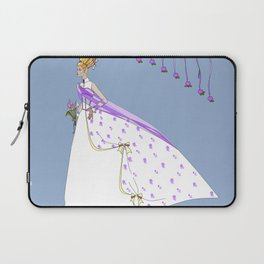 The Bouffant Bride in White with Satin Bows Laptop Sleeve