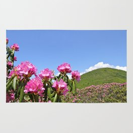 Wild Mountain Rhododendrons Rug