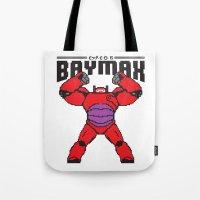 8bit Tote Bags featuring BAYMAX (8BIT) by Akiwa