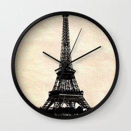 VINTAGE EIFFEL TOWER IN SEPIA Wall Clock