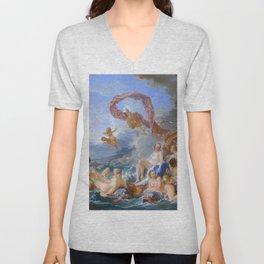 """François Boucher """"The Triumph of Venus"""" Unisex V-Neck"""
