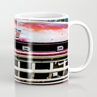 ford Mugs featuring Old Ford by Kim Ramage