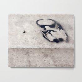 Stormtrooper Crosswalk Stencil Metal Print