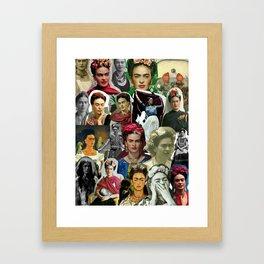 Frida Kahlo Collage Framed Art Print