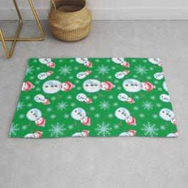 Snowman Christmas Pattern Rug