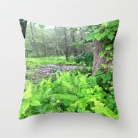 abyss Throw Pillows featuring Abyss  by Riley Gallagher
