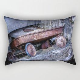 Left and Forgotten a little red wagon Rectangular Pillow