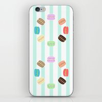 macarons iPhone & iPod Skins featuring Macarons by ASHEFACE DESIGNS