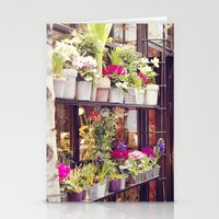 outdoor Stationery Cards featuring Outdoor Paris Flower Market by Christy Simmons