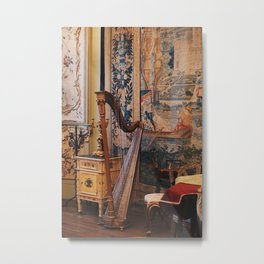 Harp in the Garner Museum Metal Print