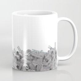 Pile of metal springs and coils Coffee Mug