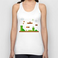 mario Tank Tops featuring Mario by idaspark