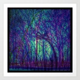 Psyche Trees Art Print