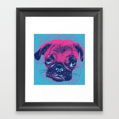 HypnoPug Framed Art Print