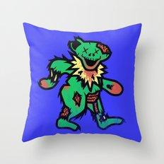 Grateful undead bear Throw Pillow