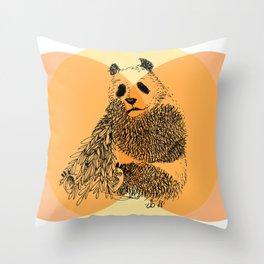 saving panda Throw Pillow