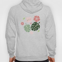 Tropical leaves green paradise #homedecor #apparel #tropical Hoody
