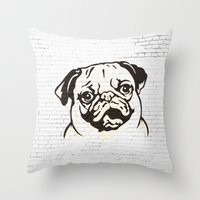 obey Throw Pillows featuring OBEY by solomnikov