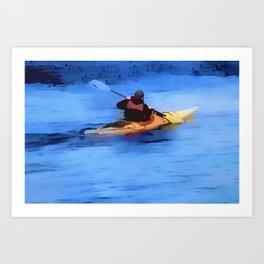The Explorer    -   Kayaker Art Print