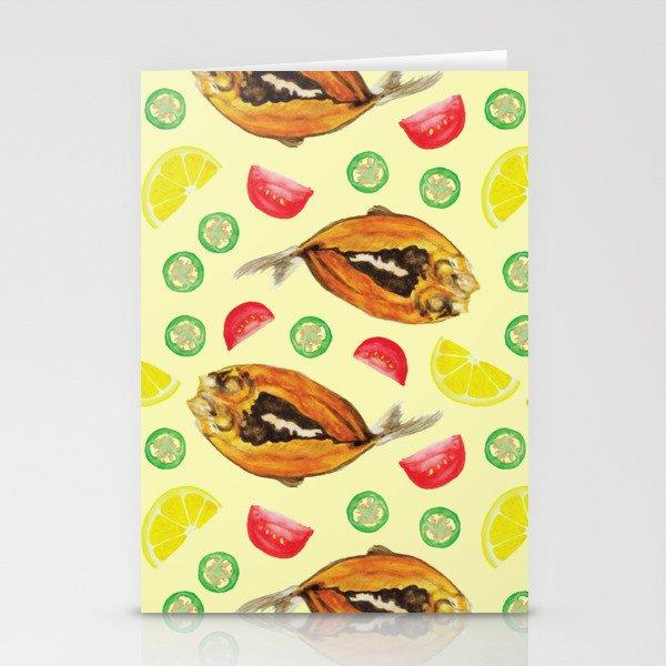 Milkfish Pattern Stationery Cards
