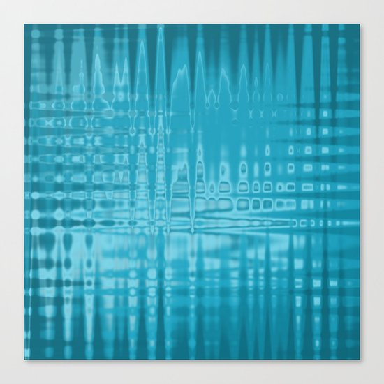 ABSTRACT MADNESS IN BLUE Canvas Print