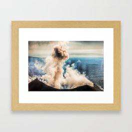 The summit of Karymsky Volcano Framed Art Print