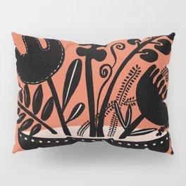 Flower Bowl Orange Pillow Sham