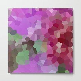 Pixels - Winter Garden of Pink Stars Metal Print