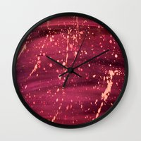 splatter Wall Clocks featuring Splatter by TA TAN