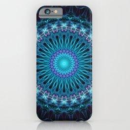 Winter cold mandala iPhone Case