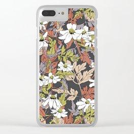 Floral Fun Clear iPhone Case