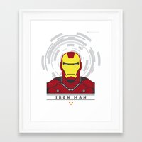 ironman Framed Art Prints featuring IRONMAN by Nuthon Design