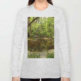 Magnolia Garden White Bridge Long Sleeve T-shirt