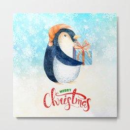 Christmas penguin #4 Metal Print