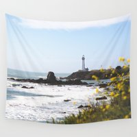 west coast Wall Tapestries featuring Springtime On The West Coast by JILL KREINBRINK