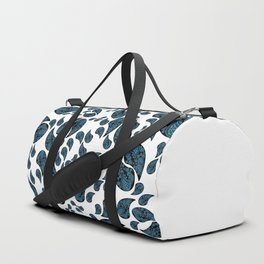 Paisley turquoise, black and white. Duffle Bag