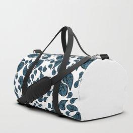 Paisley turquoise, black and white. Duffle Bag