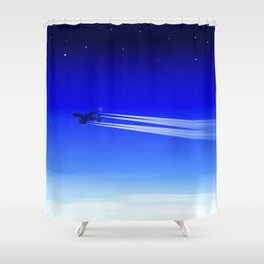 Jet Heading Home Shower Curtain