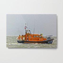 Hoylake Lifeboat (Digital Art) Metal Print