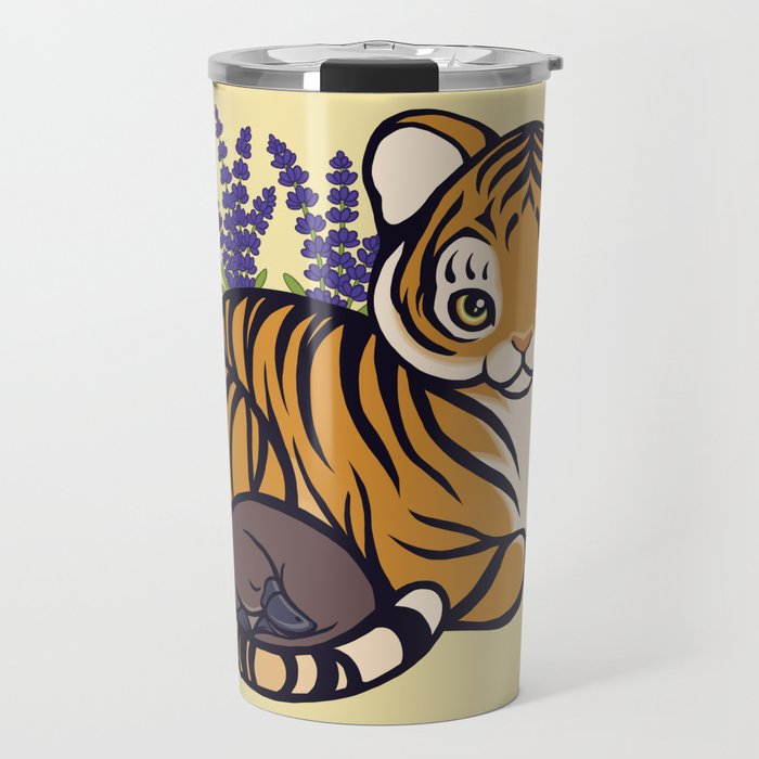 Loafing Tiger, Hidden Platypus Travel Mug