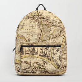 Novvelle et exacte description dv globe terrestre (World Map circa 1645) Backpack