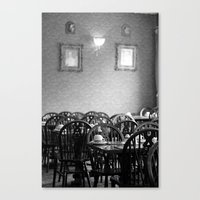 cafe Canvas Prints featuring Cafe by J. Ann Photography