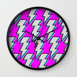 Purple Lightening Wall Clock